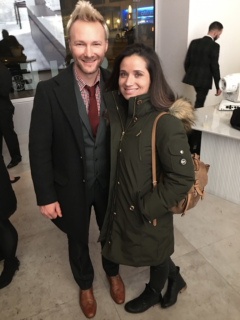 Dan and Emille at Porcelanosa Christmas Event, 2016.