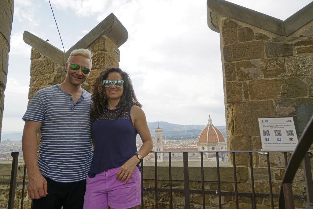 Dan & Emille in the Palazzo Vecchio tower