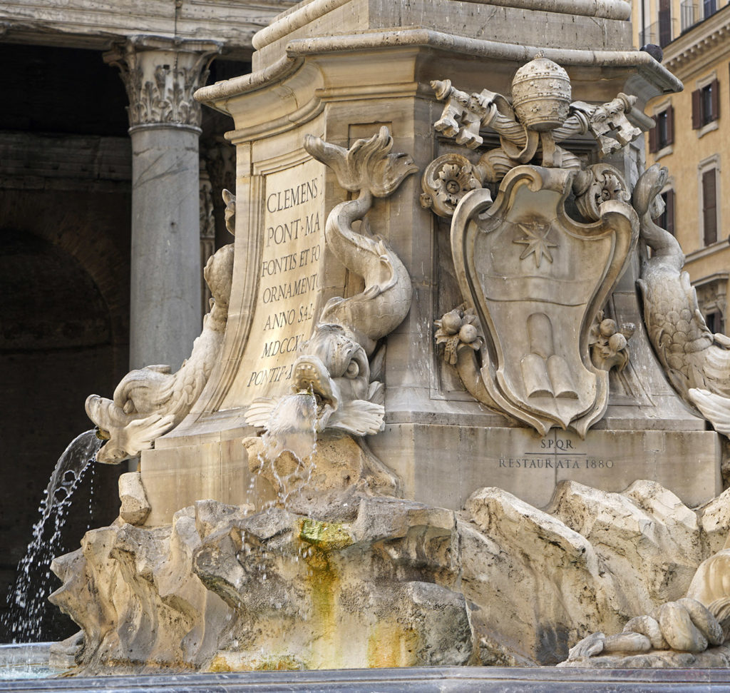 Fontana di Piazza della Rotonda, in front of the Pantheon