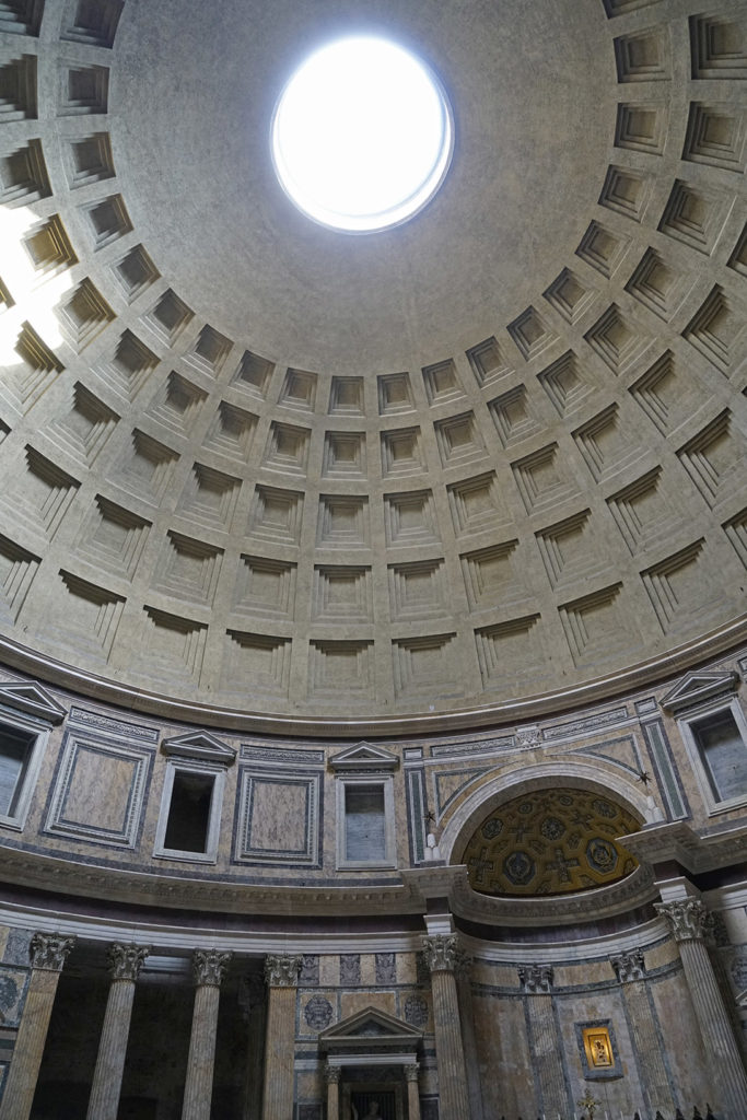 The Pantheon interior, a former Roman temple, now a church