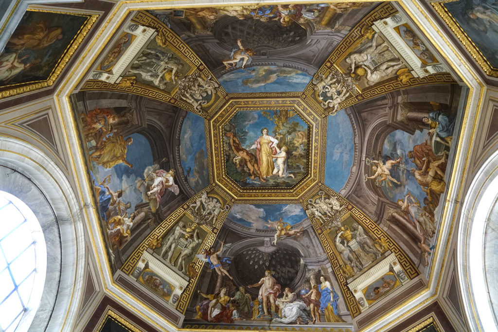 A ceiling at the Vatican Museums