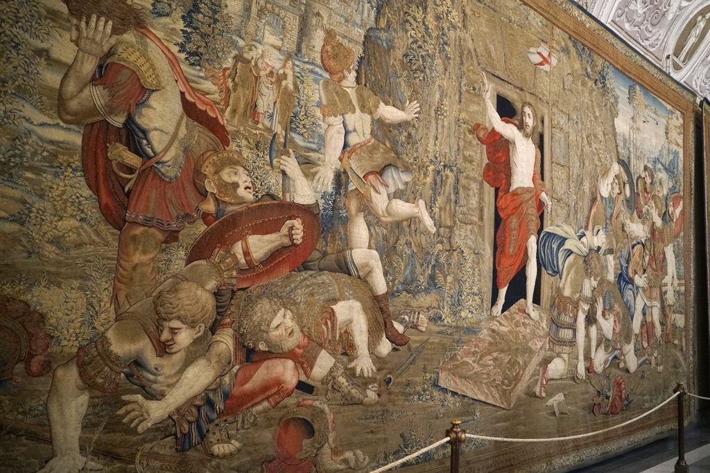 The Resurrection of Jesus Tapestry at the Vatican Museums