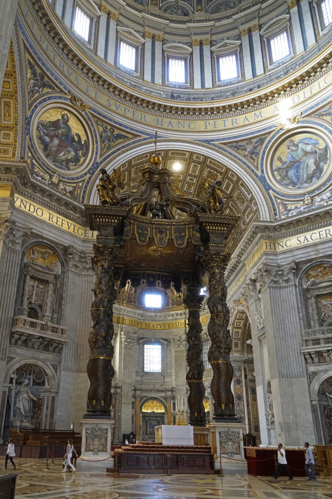 Baldachin over the high altar of St Peter's Basilica