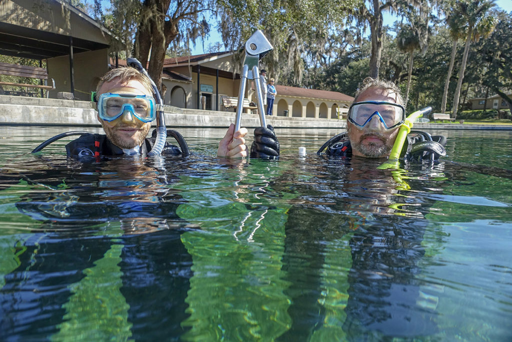 Dan and Mike Campbell of Castaway Scuba in De Leon Springs