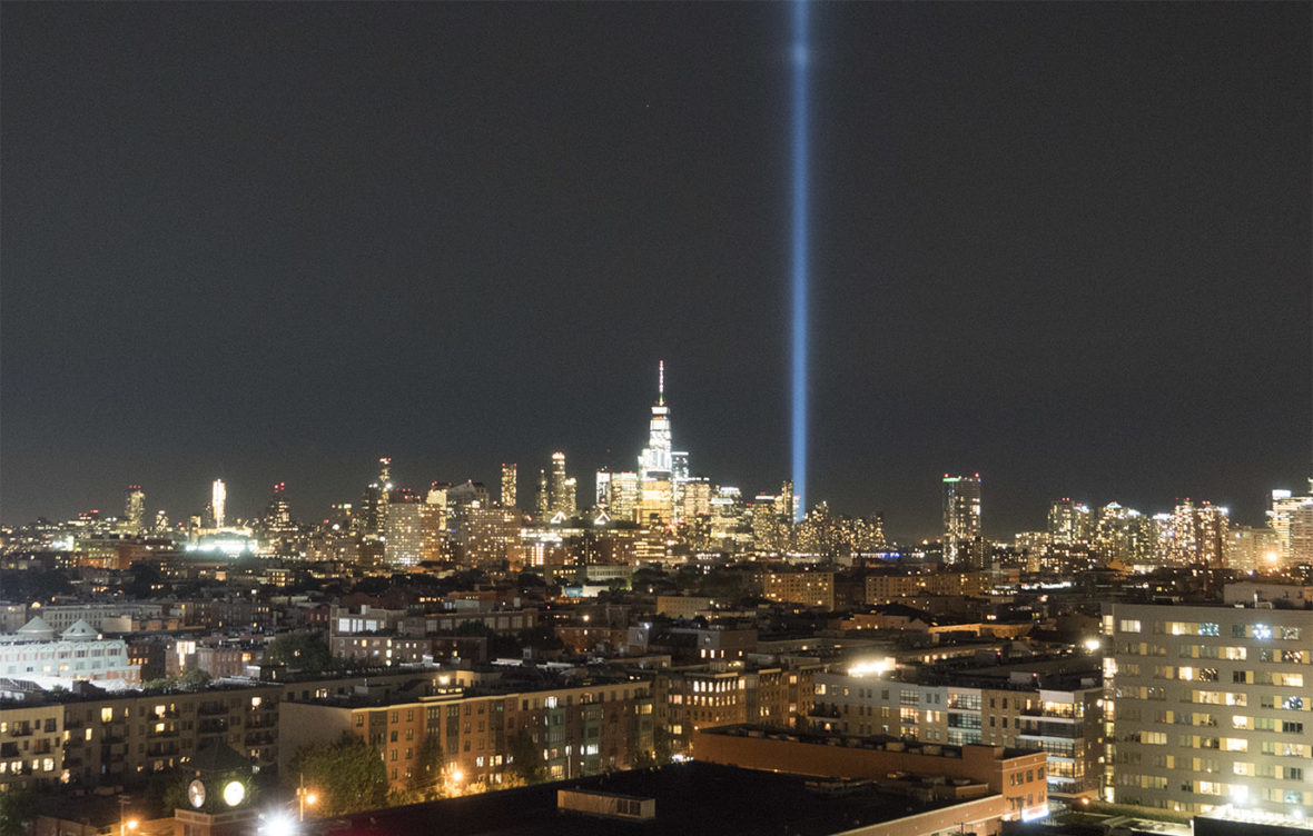 NYC Skyline on 9/11 from Hoboken, NJ