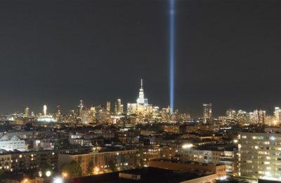 NYC Skyline on 9/11 from Hoboken, NJ