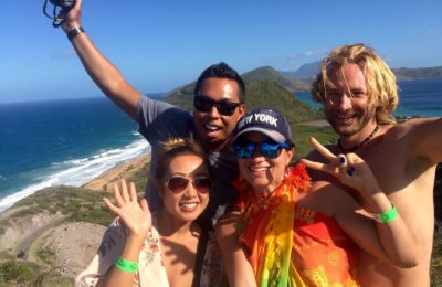 Ashley, Stephen, Emille and Dan in Saint Lucia