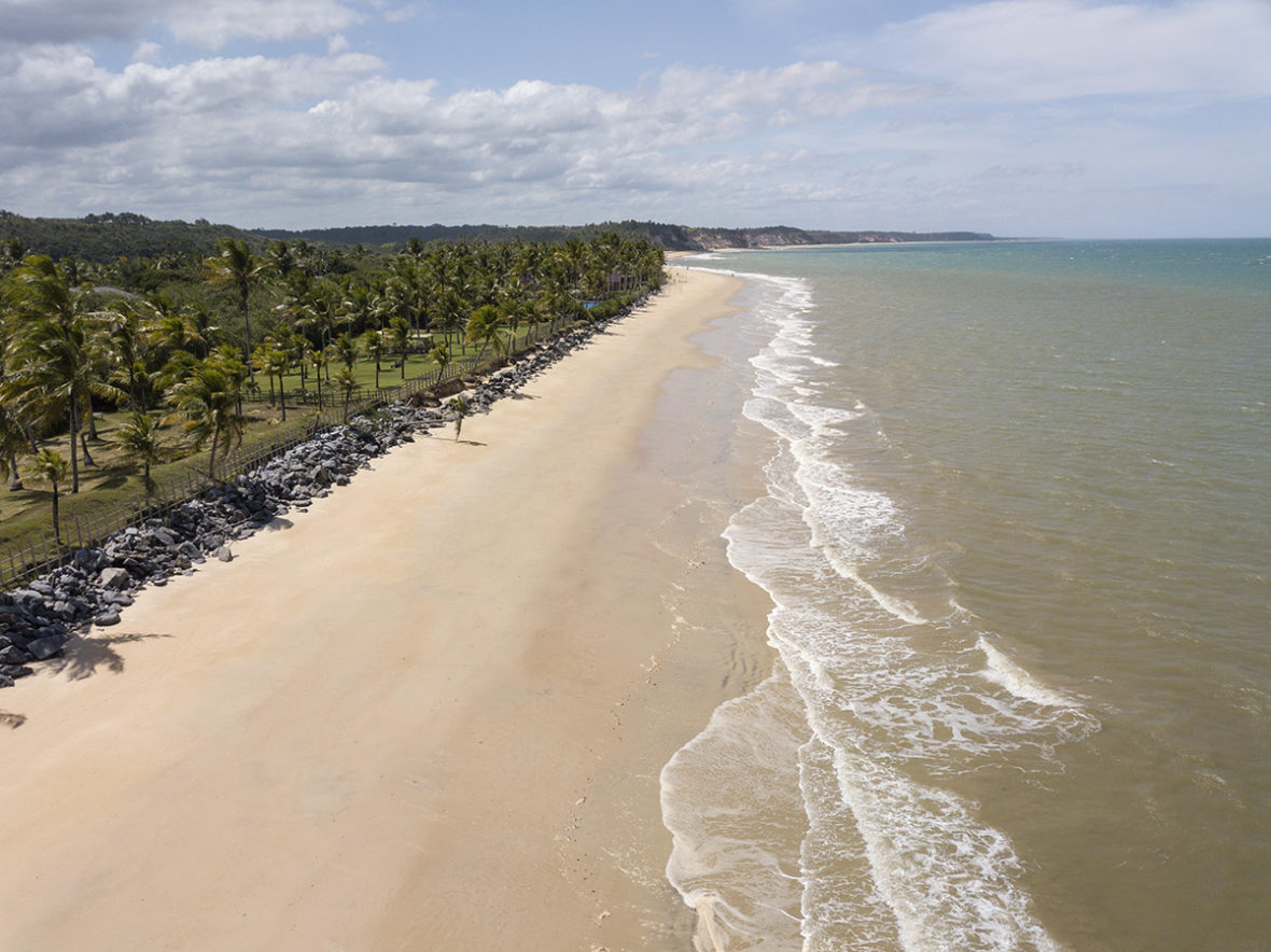 Drone Brazil Trancoso Beach excursion
