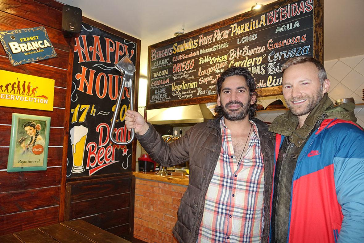 Subway Handle in El Chalten, Argentina, Burbon Restaurant Bar and B&B Burger