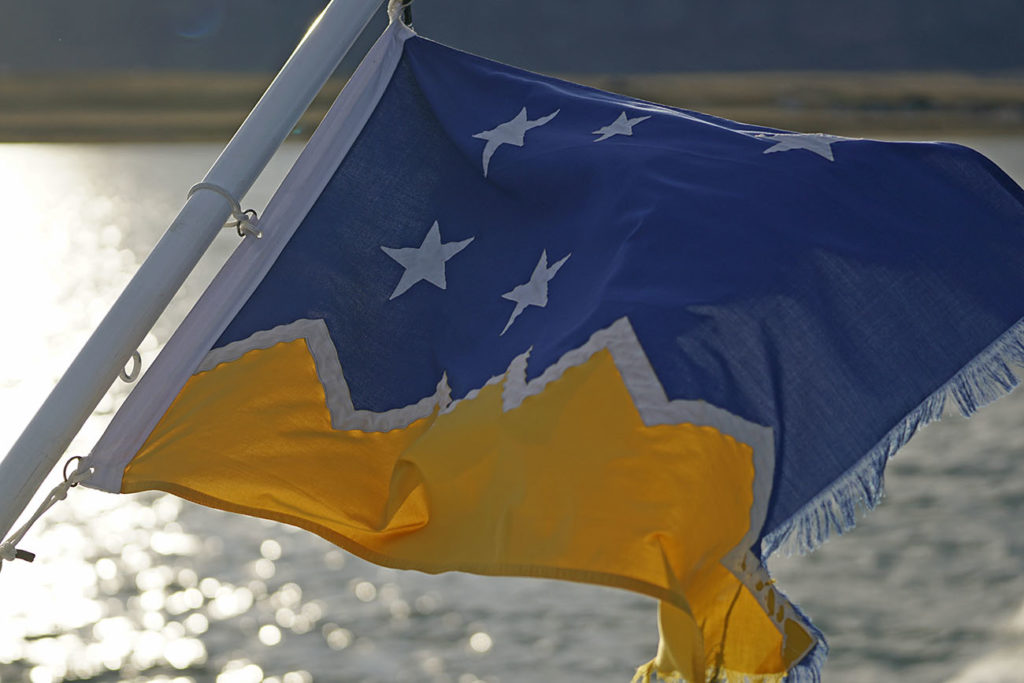 The Flag of Magallanes and the Antártica Chilena Region