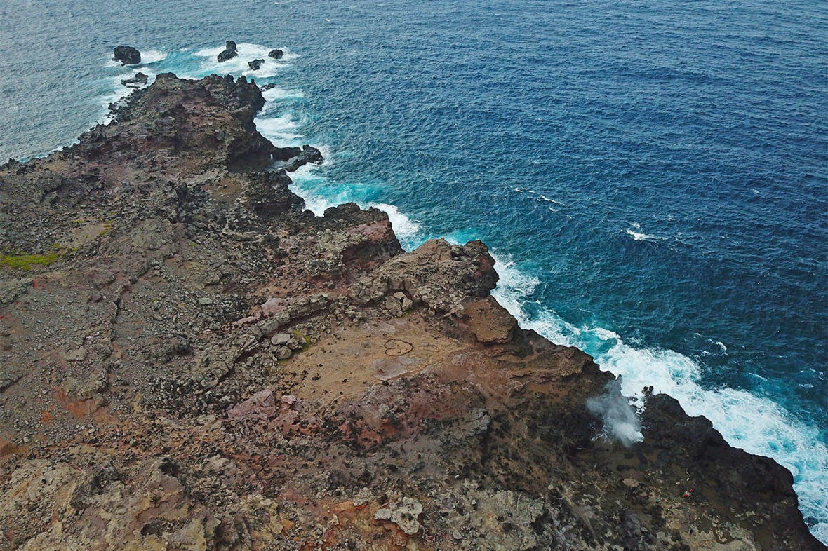 Drone photo of the Blowhole on the North Shore of Maui, Hawaii, on the Road to Hana in the Barefoot Buggy, Road to Hana, Maui, Hawaii, Beach, Beaches, Bay, Sunrise, Sunset, Hikes, Hiking, Hiking Hawaii, hang loose, smile, tourist attraction, ocean, nature, waves, video, footage, drone, drone video, DJI Mavic Pro, Mavic, Barefoot Buggy, GoPro, GoPro Video, GoPro Hero 6 Black, NY See You Later, New York See You Later, NYSeeYouLater, NYSeeYouLater.com, Subway Handle, NYC Subway Handle