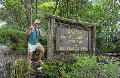 Dan by the Kalopa Native Forest State Park on The Big Island of Hawaii