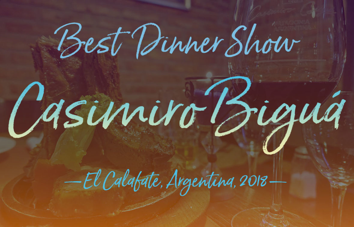 "We bestow the ""NY See You Later Best Dinner Show in El Calafate, Santa Cruz, Argentina"" award to Casimiro Biguá Restaurante & Parrilla."