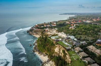 DJI Mavic Pro drone shot of Uluwatu Beach, Bali, Indonesia