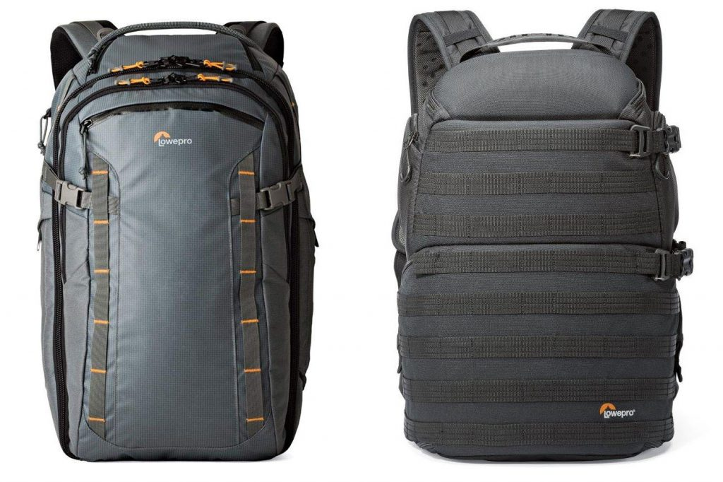 Lowepro HighLine BP 400 AW - Weatherproof & rugged 36-liter daypack (left) and Lowepro ProTactic 450 AW Camera Backpack (right)
